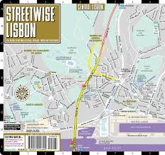 Cascais Portugal Map Streetwise Lisbon Map Laminated City Center Street Map Of Lisbon