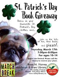 st patrick u0027s day book give away at rosa m harvey middleton