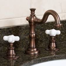 bronze widespread bathroom faucet cross handles bathroom faucet signature hardware