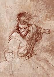 samurai sketch by ittoogamy on deviantart