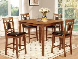 Light Oak Dining Room Sets by 5 Pc Counter Height Dining Sets Caravana Furniture