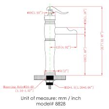 8828bn elite brushed nickel finish single lever tall vessel sink