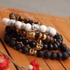 lucky beads bracelet images Kittenup fashion men 39 s bracelet buddha arrow elastic black beaded jpg