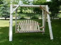 Log Outdoor Furniture by Rustic Cedar Log Garden Swings Yard Porch Log Swings
