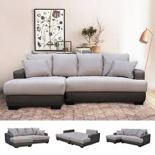 canap lit d angle canapé d angle gauche canapé lit convertible avec coffre en tissu