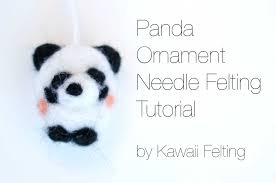 diy panda ornament needle felting tutorial how to needle felt