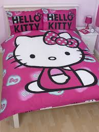 Hello Kitty Duvet Kitty Ink Double Duvet Cover And Pillowcase