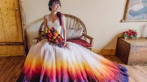 color wedding dresses dip dyed colorful wedding dresses are the new bridal trend