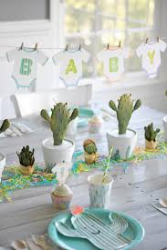 baby shower tableware throw the cutest cactus baby shower nursery decor cacti and nursery