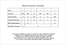 production schedule template u2013 8 free sample example
