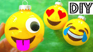 make christmas ornaments emojis diy christmas