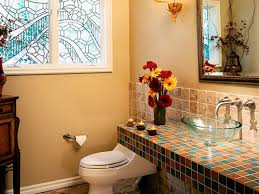 Orange Powder Room Half Bathroom Or Powder Room Hgtv