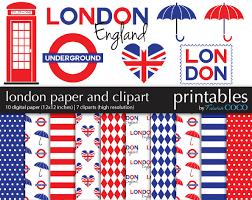 London Flag London Digital Paper Pack England Clip Art Digital
