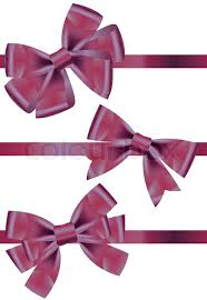 purple satin ribbon vector set of different types of purple satin ribbons with bows