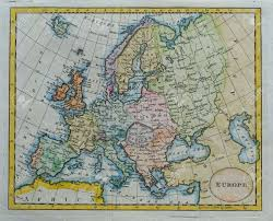 vintage colored europe map stock photo picture and royalty free