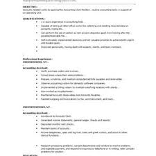 Sample Resume For Accounting Assistant Security Clerk Sample Resume