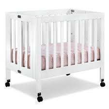 Naturepedic Mini Crib Mattress by Babyletto Origami Mini Crib In Lagoon Free Shipping 249 00