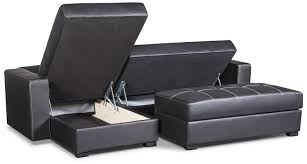 belize 2 piece storage futon with chaise black the brick