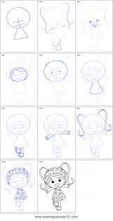 how to draw milli from team umizoomi printable step by step