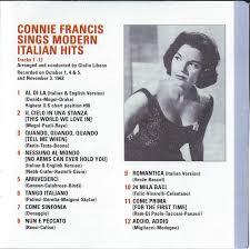 cd album connie francis connie francis sings modern italian