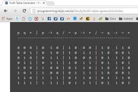truth table validity generator logic generating truth tables for quantifiers online mathematics