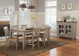 Casual Dining Room Sets Rectangle Casual Dining Table With Driftwood U0026 Taupe Finish