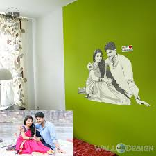 wall stickers decals buy online from walldesign in pencil sketch photo gift wall sticker