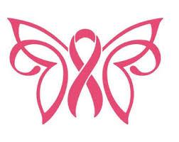 cancer awareness ribbon butterfly car decal car sticker