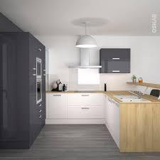 cuisine gris et bleu cuisine gris et blanc deco meilleur idées de conception de maison