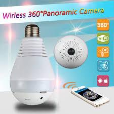 security light with camera wireless 4 0mp wifi panoramic 360 degree camera wireless light bulb fisheye