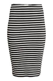 pencil skirt black white striped sale h u0026m us