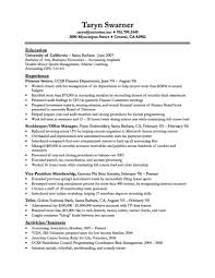 Resume Internship Examples by Sample Resume For Finance Internship Resume For Your Job Application