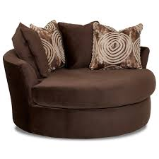 Sofa With Swivel Chair Athena Oversized Swivel Chair With Scattered Back Pillows By