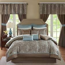 Room Essentials Comforter Set Madison Park Essentials Cadence Blue 24 Piece Room In A Bag Window