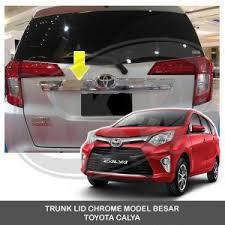 Daihatsu Sigra Trunk Lid Cover Chrome jual beli trunk lid chrome model besar toyota calya baru aksesoris