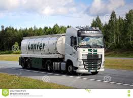 volvo semi truck volvo fh semi tank truck on motorway at summer editorial stock