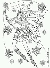 winter fairy coloring pages coloring