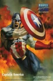 1996 marvel masterpieces masterprint captain america u0026 silver