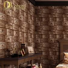 online shop dcohom american vintage 3d wooden textured wallpaper
