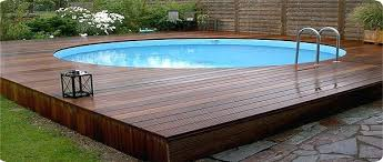 wood deck above ground pool wooden deck pool design wooden pool
