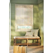 White Bamboo Curtains White Bamboo Shades Shades Shades The Home Depot