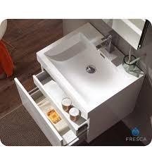 Fresca Bathroom Vanity 23 5 u201d fresca nano fvn8006wh white modern bathroom vanity w