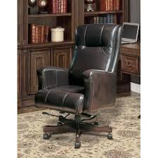brown leather executive desk chair top grain leather executive office chair rc willey furniture store