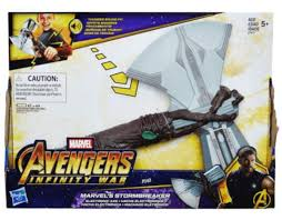 avengers infinity war thanos gauntlet and thor s stormbreaker