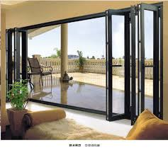Bifolding Patio Doors Contemporary Deck Patio Style With 6 Panels Slim Rectangle Bifold