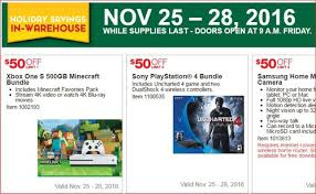 black friday micro sd card costco black friday 2016 deal 50 off xbox one ps4 thepicky