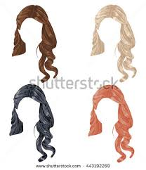 set different hairstyles hairs stock vector 380312290 shutterstock