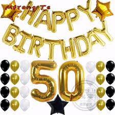 50th birthday flowers and balloons mtrong te 50th birthday party decorations kit happy birthday foil