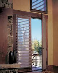 hunter douglas low profile silhouette perfect for french doors