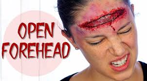 Halloween Special Effects Makeup by Open Forehead Wound Special Effects Halloween Makeup Silvia